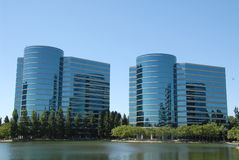 Office buildings. High tech office buildings, Redwood Shores, California Royalty Free Stock Images