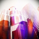 Office buildings. With abstract light Stock Photo