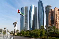 Office Buildings in Abu Dhabi Stock Photography