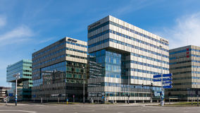 Office buildings in Amsterdam Zuidoost, Holland Stock Photo