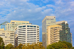 Office buildings in Arlington, Virginia. Sunny autumn morning in the city Royalty Free Stock Photography