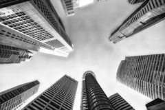 Office buildings. (Black and white color Royalty Free Stock Photo