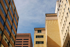 Office buildings in calgary downtown stock image