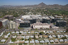 Office buildings on Camelback Rd. Royalty Free Stock Photos