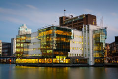 Office buildings in Canary Wharf. Royalty Free Stock Image