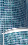 Office buildings in a city close up Royalty Free Stock Image