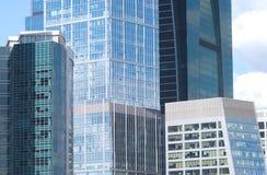 Office buildings on a city closeup Stock Photos