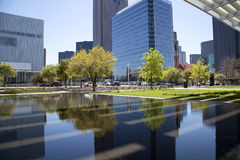 Office buildings in city Dallas Royalty Free Stock Images