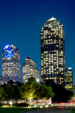 Office buildings in the city Dallas night Stock Photos
