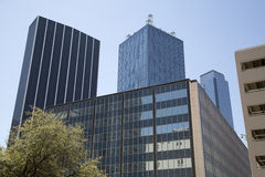 Office buildings in downtown Dallas Stock Images