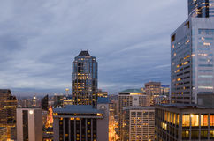 Office buildings in downtown Seattle Stock Images