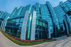 Office buildings ensemble located in a new business center on Be Stock Photo