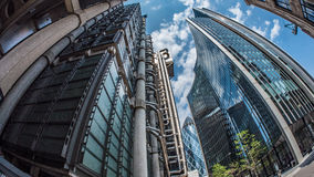 Office buildings in the financial district of the City of London Royalty Free Stock Photo