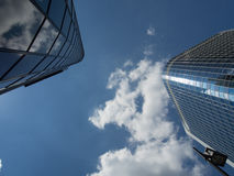 Office buildings in the financial district of Frankfurt, Germany Royalty Free Stock Images