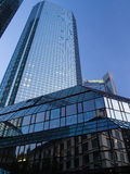 Office buildings in the financial district of Frankfurt, Germany Stock Photo