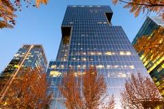 Office buildings at financial district known as Nueva Las Condes in Presidente Riesco avenue, Las Condes, Santiago Royalty Free Stock Photos