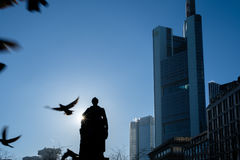Office buildings in Frankfurt stock image