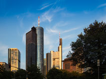 Office buildings in Frankfurt. Germany Royalty Free Stock Images