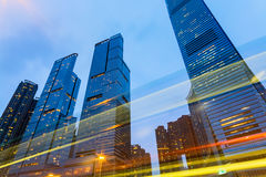 Office Buildings in Hong Kong. Stock Photos