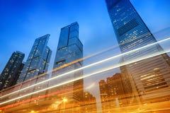 Office Buildings in Hong Kong. Office buildings at night in Hong Kong, China Royalty Free Stock Photos