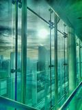 Office buildings from inside Royalty Free Stock Images