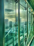 Office buildings from inside Stock Photography
