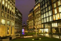 Office buildings in Kings Cross square in London Stock Photo