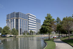 Office buildings and landscapes in Hall Park. Beautiful office buildings and landscapes design in Hall Park Frisco TX USA Stock Image