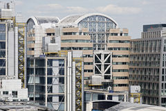 Office buildings from London UK. Exterior of new and modern constructions from London UK Europe Stock Photos