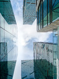 Office buildings, looking-up Royalty Free Stock Photography
