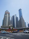 Office buildings in the Lujiazui financial center in Pudong, Shanghai. Stock Photography
