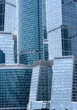Office buildings - modern architecture. Modern contemporary russian architecture: exterior / facade of modern, futuristic skyscrapers and city office buildings Stock Images