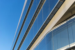 Office buildings with modern corporate architecture. Business and success concept, blue sky, windows Stock Image