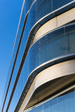 Office buildings with modern corporate architecture. Business and success concept, blue sky, windows Stock Images
