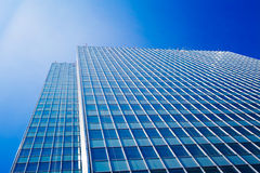 Office buildings.  modern glass silhouettes of skyscrapers Royalty Free Stock Images