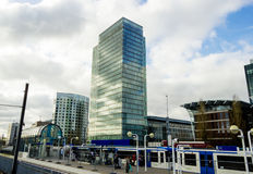 Office buildings near metro station Zuid, Amsterdam Royalty Free Stock Photography