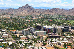 Office Buildings near Piestewa Peak and Golf Course Royalty Free Stock Photos