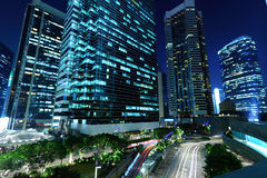 Office buildings at night. Corporate office buildings at night Royalty Free Stock Image