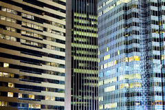 Office buildings at night. Exterior of Office buildings at night Royalty Free Stock Images