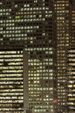 Office Buildings At Night. Lights in the windows of office buildings Royalty Free Stock Photo