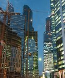 Office buildings at night Royalty Free Stock Photo