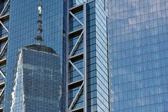 Office Buildings Reflecting Royalty Free Stock Photo
