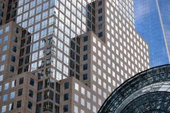 Office Buildings Reflecting, NYC Stock Images