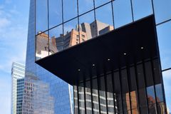 Office Buildings Reflecting, NYC Royalty Free Stock Photo