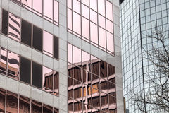 Office Buildings and Reflections. In Downtown Portland Oregon Royalty Free Stock Photo