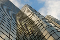 Office buildings with reflections Royalty Free Stock Images