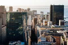 Office Buildings of Rio de Janeiro City Downtown. View of commercial and office buuldings in Rio de Janeiro city downtown, Brazil.View of commercial and office royalty free stock photography