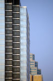 Office buildings seen as a pyramid. Office building windows in North America Stock Photo