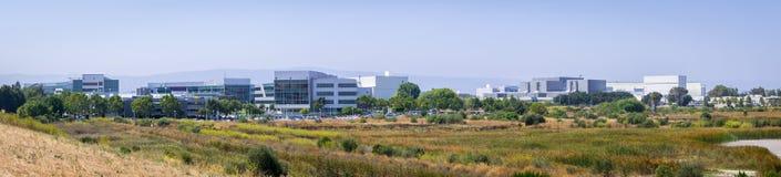 Office buildings on the shoreline of the San Francisco bay area, Sunnyvale, California stock photography