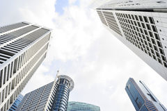 Office buildings in Singapore Stock Image